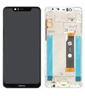 Display (LCD + Touch) + Frame für TA-1105, TA-1108 Nokia 5.1 Plus - glacier white