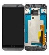 Display (LCD + Touch) + Frame für HTC One M9 - gun metal