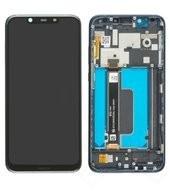 LCD + Touch + Frame für TA-1119, TA-1128 Nokia 8.1 - blue