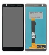 Display (LCD + Touch) für TA-1057, TA-1063 Nokia 3.1 - black chrome