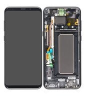 Display (LCD + Touch) + Frame für G955F Samsung Galaxy S8+ - midnight black