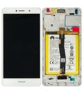 Display (LCD + Touch) + Battery für Huawei Honor 6x - silver gold