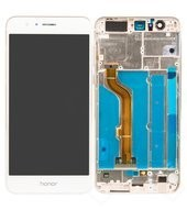 Display (LCD + Touch) + Frame für FRD-L19 Huawei Honor 8 DUAL - white