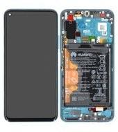 Display (LCD + Touch) + Frame + Akku für YAL-AL10, YAL-L41 Honor 20 Pro - phantom blue