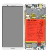 Display (LCD + Touch) + Frame + Battery für (FIG-L31) Huawei P Smart - white