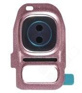 Camera Frame für G930F, G935F Samsung Galaxy S7 - pink