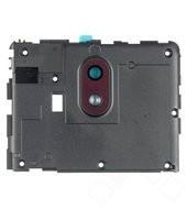 Camera Lens + Deco für TA-1057, TA-1063 Nokia 3.1 - white iron