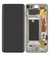 Display (LCD + Touch) + Frame für G973F Samsung Galaxy S10 - prism white