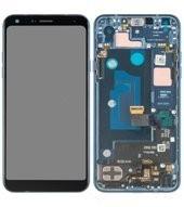 Display (LCD + Touch) + Frame für LMQ610 LG Q7+ - moroccan blue