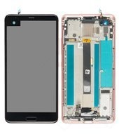 Display (LCD + Touch) + Frame für HTC U Ultra - cosmetic pink
