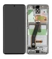 Display (LCD + Touch) + Frame für G980F, G981B Samsung Galaxy S20, S20 5G - cloud white