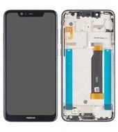 Display (LCD + Touch) + Frame für TA-1105, TA-1108 Nokia 5.1 Plus - baltic sea blue