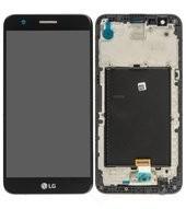 LCD + Touch + Frame für M250 LG K10 2017 - black gold