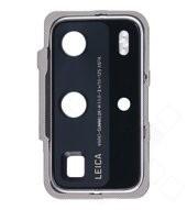Camera Lens + Bezel für ELS-NX9, ELS-N04 Huawei P40 Pro - silver frost
