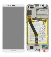 Display (LCD + Touch) + Frame + Battery für AUM-TL00, AUM-TL20 Honor 7A - white