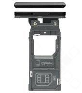 SIM Tray für H9436, H9493 Sony Xperia XZ3 Dual - black