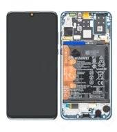 Display (LCD + Touch) + Frame + Battery für MAR-L01A, MAR-L21A, MAR-LX1A Huawei P30 Lite - peacock b