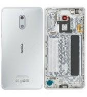 Battery Cover für (TA-1021) Nokia 6 DUAL - white silver