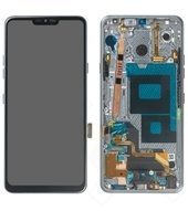 Display (LCD + Touch) + Frame für G710EM LG G7 ThinQ - new platinum grey