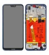Display (LCD + Touch) + Frame + Battery für ANE-L21 Huawei P20 Lite Dual - klein blue