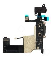Charging Port +Audio Jack + Microphone + Flex für Apple iPhone 5 - black