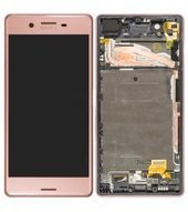 LCD + Touch + Frame für F5121, F5122, Sony Xperia X - pink