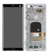Display (LCD + Touch) + Frame für H8416, H9436, H9493 Sony Xperia XZ3 - silver white
