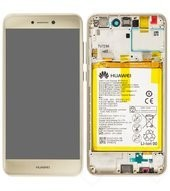 Display (LCD + Touch) + Frame + Battery für Huawei P8 Lite 2017 DUAL - gold
