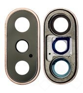 Main Camera Lens + Frame für Apple iPhone - gold