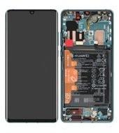 Display (LCD + Touch) + Frame + Battery für VOG-L29, VOG-L09, VOG-L04 Huawei P30 Pro - aurora blue