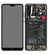 Display (LCD + Touch) + Frame + Battery für CLT-L09, L29 Huawei P20 Pro - black