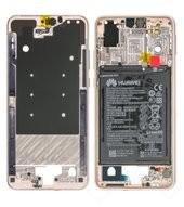 Main Frame + Battery für EML-L29 Huawei P20 Dual - pink gold
