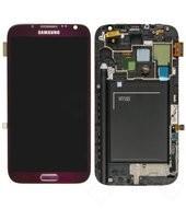 Display (LCD + Toucheinheit) full Set red für Samsung N7105 Galaxy..