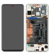 Display (LCD + Touch) + Frame + Battery für MAR-L01A, MAR-L21A, MAR-LX1A Huawei P30 Lite - pearl whi