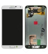 LCD + Touch für G900F Samsung Galaxy S5, S5 Plus - white