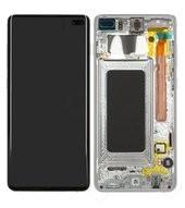 LCD + Touch + Frame für G975F Samsung Galaxy S10+ - prism white