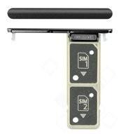 SIM / SD Tray für H4413, H4493 Sony Xperia XA2 Plus Dual - black