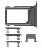 SIM Tray + Side Keys für Apple iPhone 8 Plus - space grey