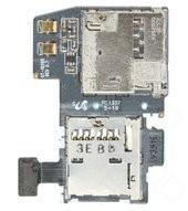 Sim + MicroSD Kartenleser mit Flex für I9295 Galaxy S4 Activ