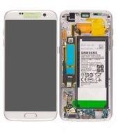 Display LCD + Touch + Battery für G935F Samsung Galaxy S7 Edge - white